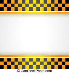 táxi, quadrado, fundo