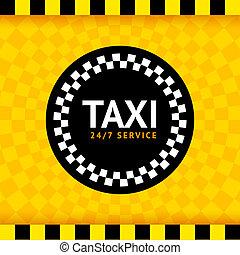 táxi, símbolo, redondo