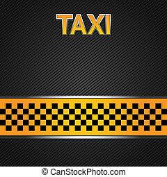 táxi táxi, fundo