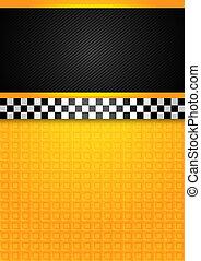 táxi táxi, -, modelo, em branco