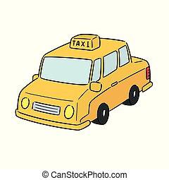 táxi, vetorial