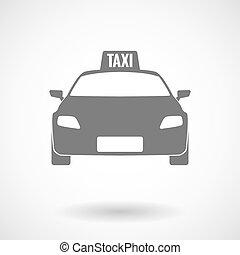 táxi, vetorial, isolado, ilustração, ícone