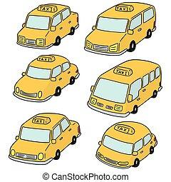táxi, vetorial, jogo