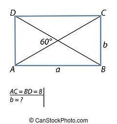 tâche, côté, trouver, parallélogrammes, court