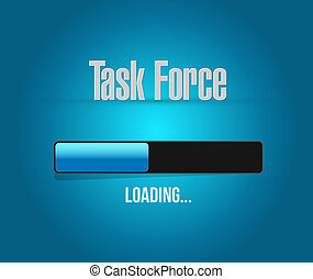tâche, chargement,  force, signe,  concept, barre