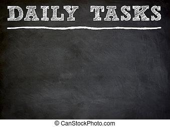 tâches, quotidiennement