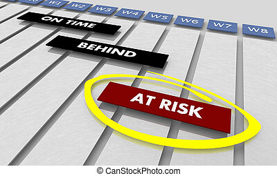 tâches, risque, horaire, timeline, diagramme, illustration, gantt, projets, 3d