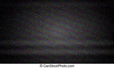 tã©lã©viseur, bruit, écran tv, vide, glitch., déformation, statique, fond, numérique, blanc