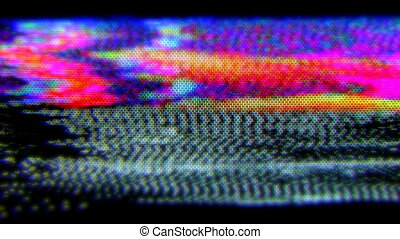 tã©lã©viseur, bruit, vieux, statique, pellicule, électronique, capturé