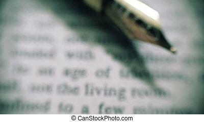 tã©lã©viseur, texte, âge, style, cinematic, stylo, fontaine