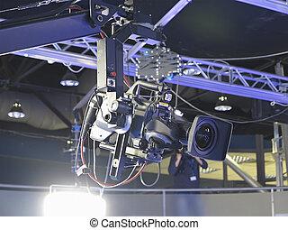 tã©lã©viseur, tv, professionnel, stu, appareil photo, studio, vidéo numérique