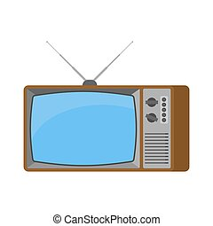 tã©lã©viseur, vieux, tv, illustration, isolated., vecteur, retro.