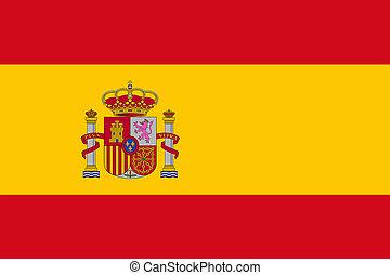 täcka, medborgare, vapen, illustration, flagga, spansk, 3