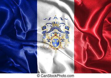täcka, medborgare, vapen, illustration, frankrike flagg, den, 3