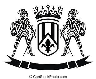 täcka, vapen, adelsmän