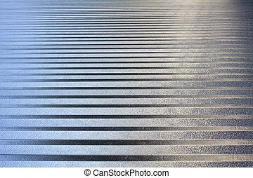 tände, aluminium, reflected., metall, bakgrund, silver