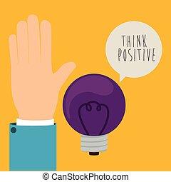 tänka, positiv, design