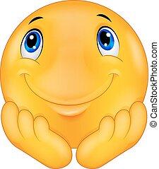 tänkande, emoticon, smiley