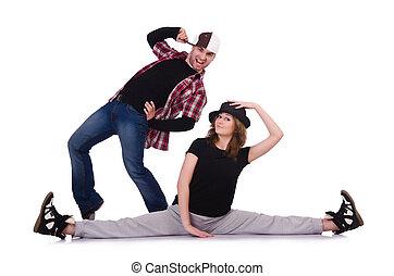 tänzer, paar, tänze, modernes tanzen