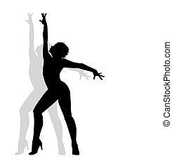tänzer, silhouette