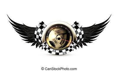 tävlings-, emblem