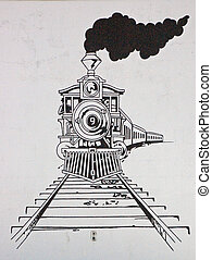 tåg, teckning