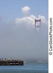 tåge, fiske, 2