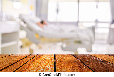 tålmodig, avbild, droppa, suddig fond, behandling, sjukhus