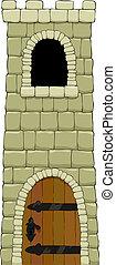 tårn, cartoon