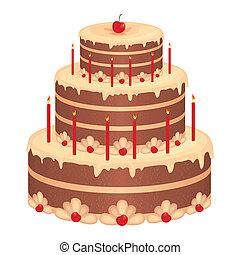 tårta, födelsedag