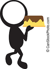 tårta, stickman