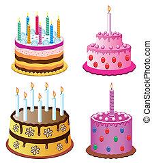 tårtor, födelsedag