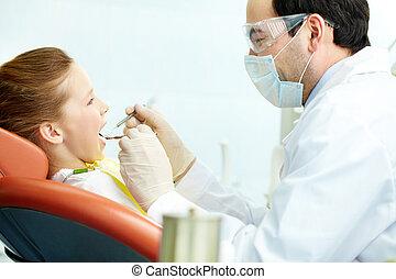 tænder, afhøringen