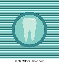 tænder, farve, lejlighed, ikon