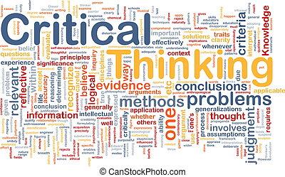 tænkning, begreb, kritisk, baggrund