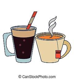 tè, caldo, campanelle, caffè
