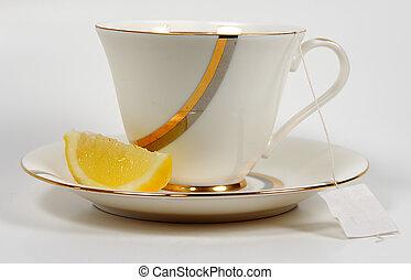 tè, e, limone