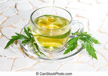 tè erbaceo, foglie, officinalis verbena