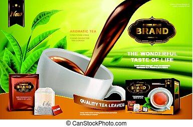 tè nero, annuncio