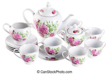 tè, sets., fondo, serie