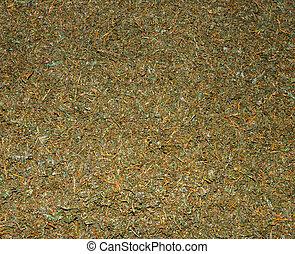 tè, su, raccolto, verde, unsorted, fresco, sbriciolato