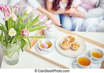 tè, tempo famiglia