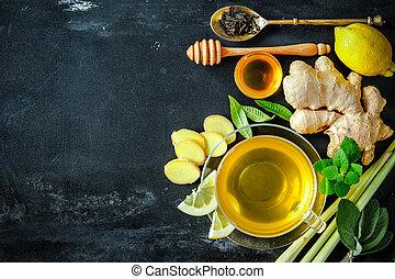 tè, zenzero, tazza