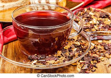 té, arándano