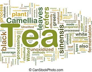 té, bebida, plano de fondo, concepto