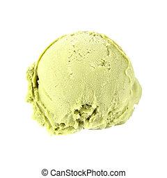 té, crema, verde, hielo, pala