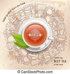 té, diseño