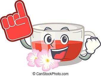 té, espuma, carácter, forma, dedo, rosehip