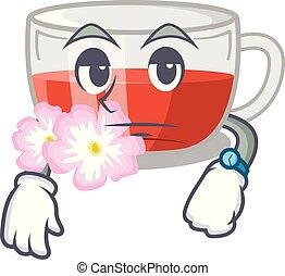 té, forma, rosehip, carácter, esperar