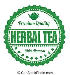 té herbario, estampilla